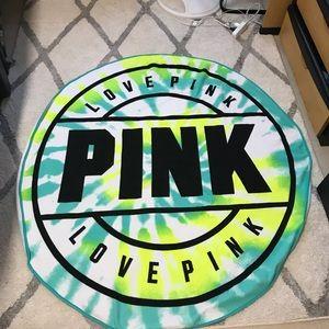 PINK Tye-Dye Beach Towel